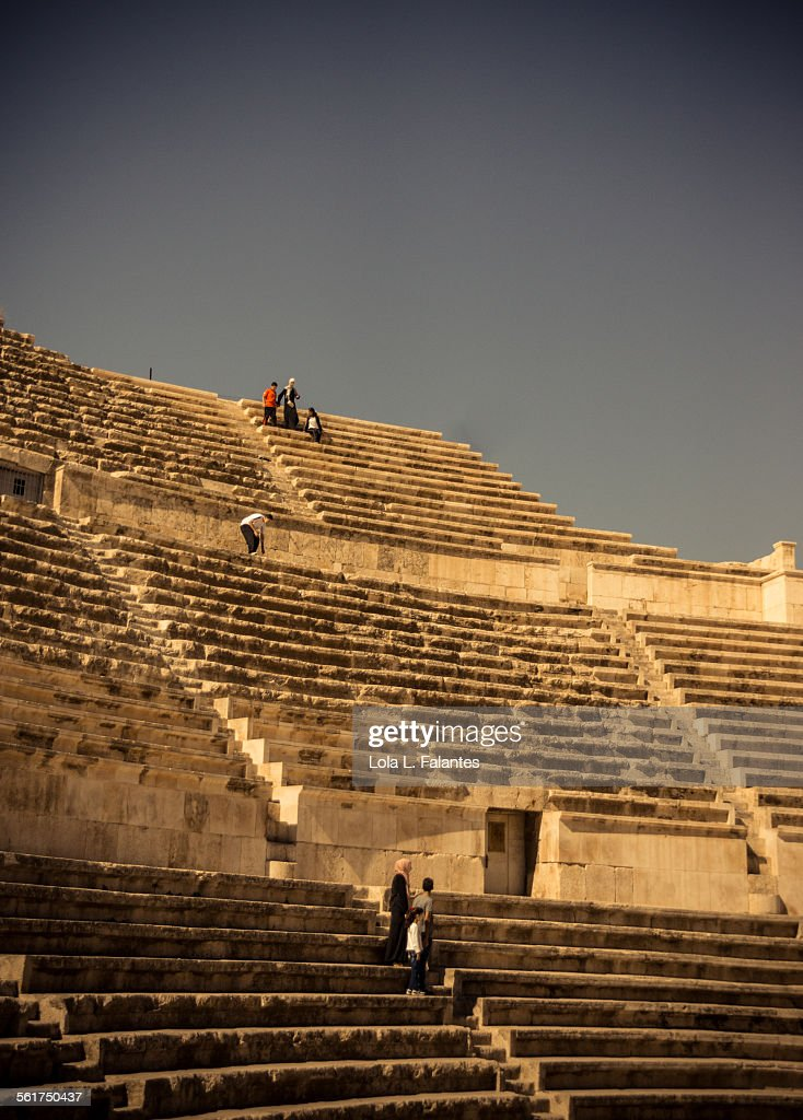 Amman Roman theater : Stock Photo