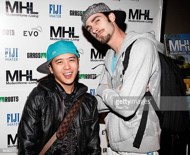 Ammo and Poet Name Life attend MHL Magazine Premiere Party at Boulevard3 on December 15 2009 in Hollywood California