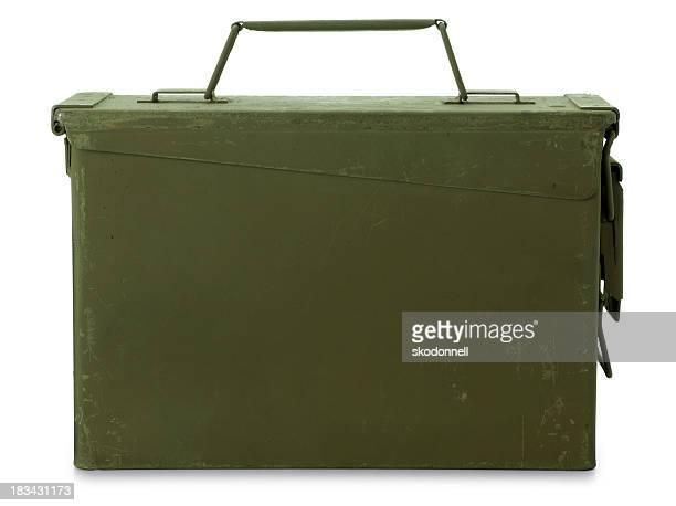 ammunition box isolated on white - ammunition stock pictures, royalty-free photos & images