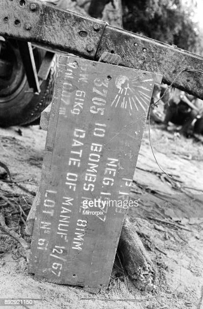 Ammunition crate containing bombings during the Biafra conflict 11th June 1968