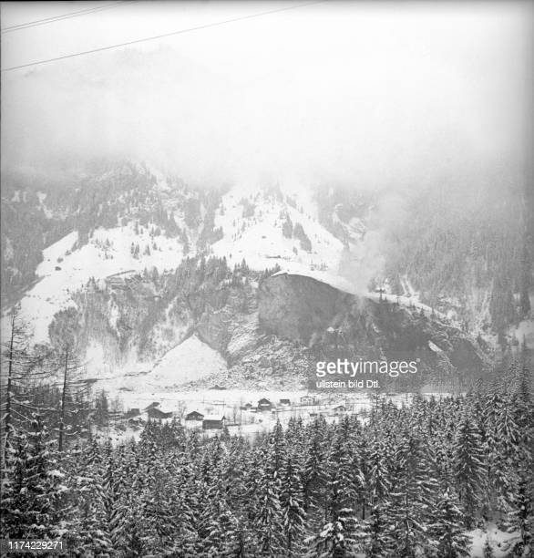 Ammunition dump of the Swiss army exploded and destroyed the railway station of BlauseeMitholz 1947