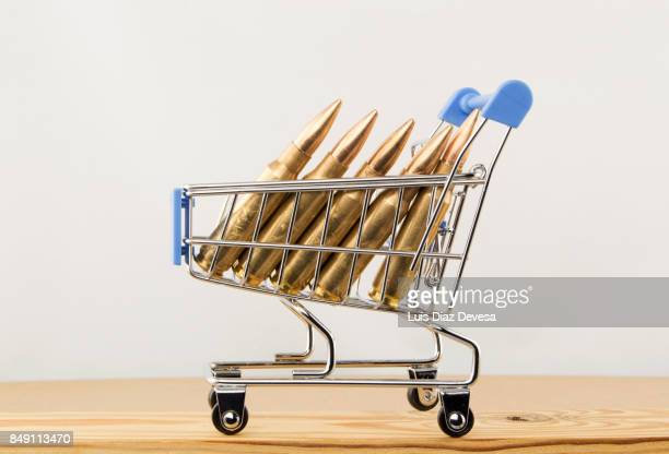 Ammunition in a shopping cart