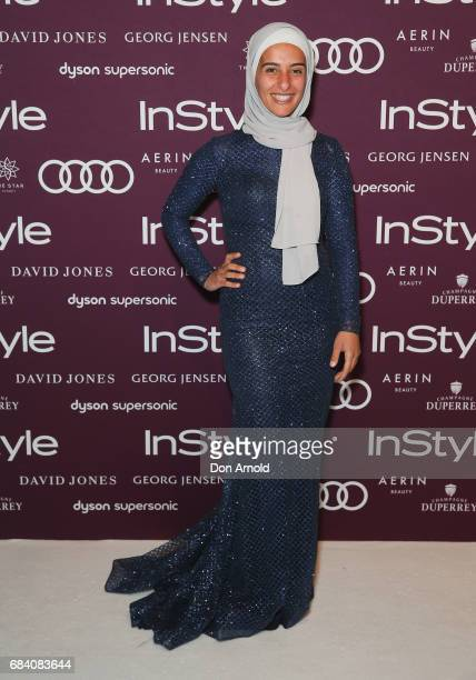 Amna KarraHassan arrives ahead of the Women of Style Awards at The Star on May 17 2017 in Sydney Australia