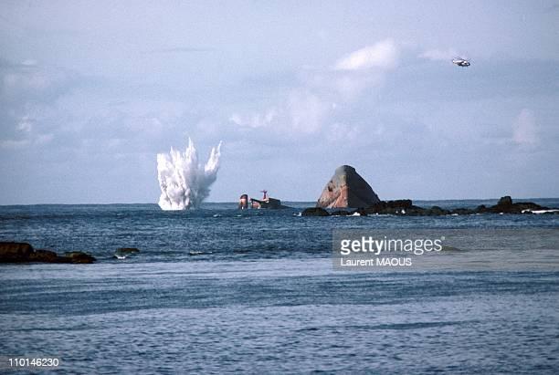 Amoco Cadiz sinking in Portsall France in March 1978