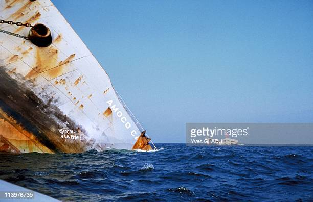 Amoco Cadiz wreck fifteen years after the sinking in France in March 1978