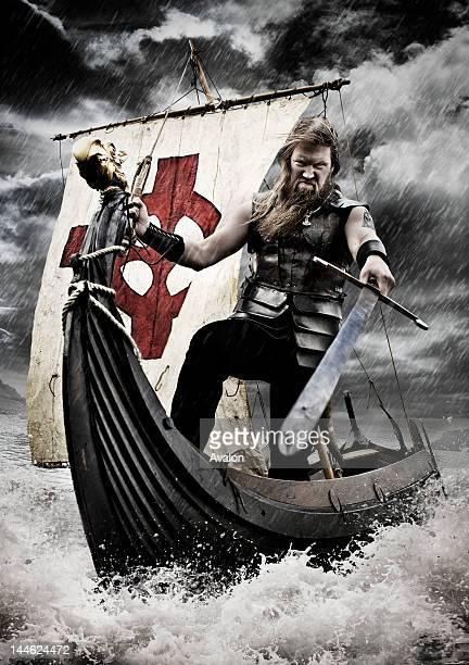 Amon Amarth on real viking longboat on the River Thames in Richmond Extra background effects added