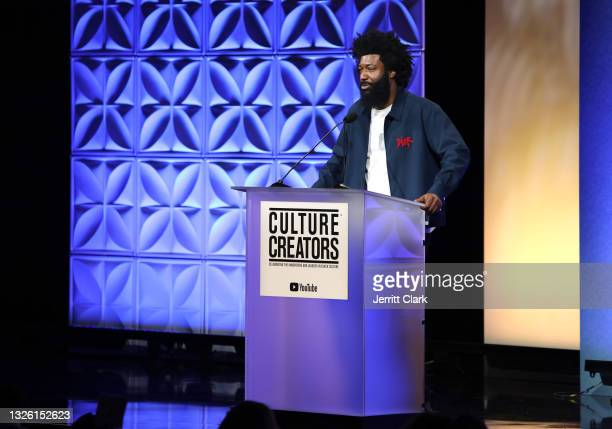 Amondo Redmond, Global Chief Marketing Officer at Coin Cloud speaks during the Culture Creators Innovators & Leaders Awards at The Beverly Hilton on...
