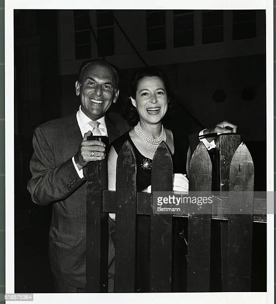 Among the arrivals on the United States was Moss Hart theatrical producer and his wife Kitty Carlisle actress and singer