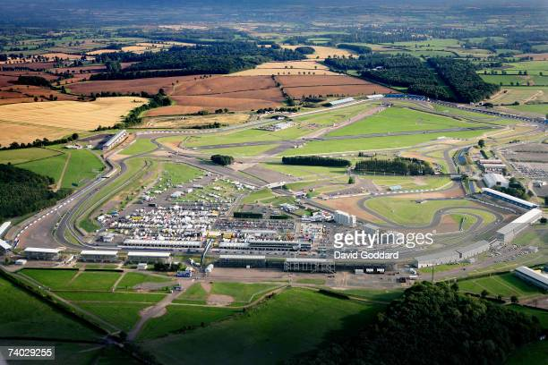 September 2006: Among the farm land of Northamptonshire lies the British Formula one Circuit Silverstone in this aerial photo taken on 9th September,...