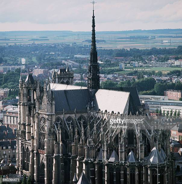 Among the great mature French Gothic churches of the thirteenth century contruction of Amiens cathedral was started in 1220 from the facade design of...
