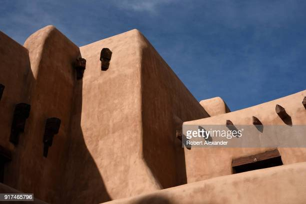 Among the historic adobe buildings in Santa Fe New Mexico is the city's New Mexico Museum of Art