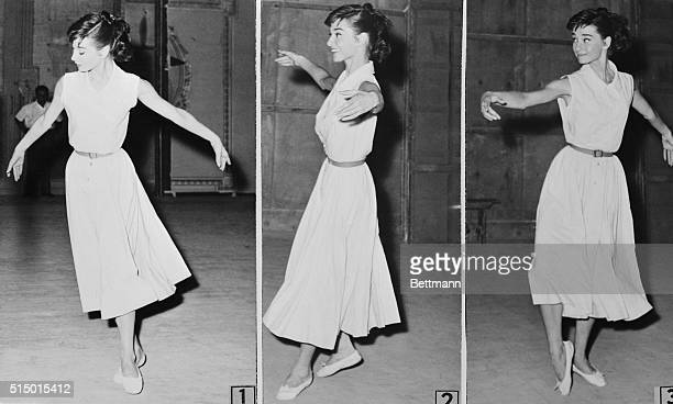 Among the many talents put to use by actress Audrey Hepburn in her role in the Tolstoy Classic War and Peace being filmed in Rome is dancing where in...