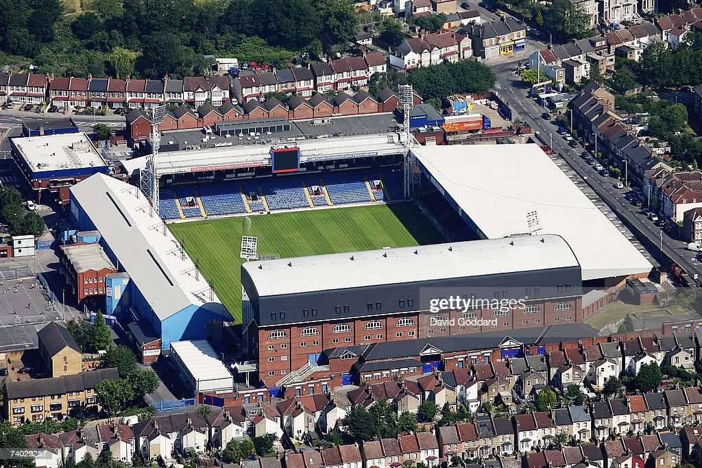 Crystal Palace's Selhurst Park: An Aerial View : News Photo