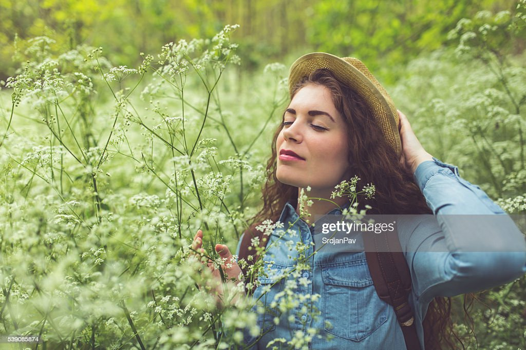 Among The Wildflowers : Stock Photo