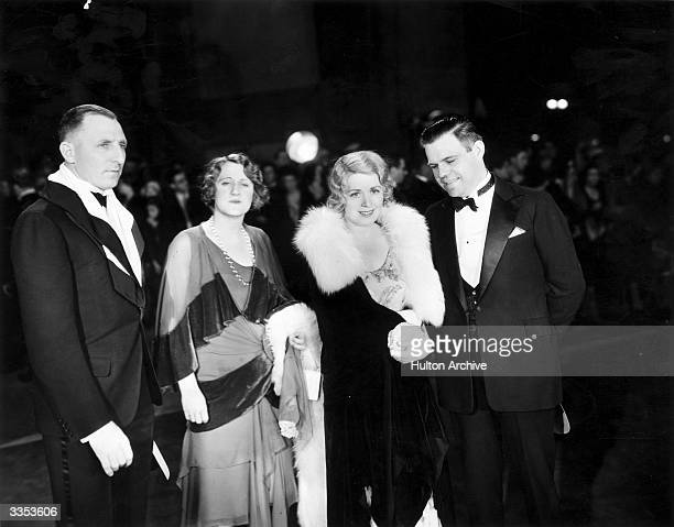 Amongst the stars at the film premiere of 'Morocco' at the Chinese Theatre in Los Angeles, are District Attorney Buron Fitts, his wife Mrs Fitts, Mrs...