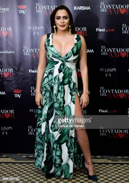 Amor Romeira attends 'El Contador Del Amor' Madrid Premiere on May 8 2018 in Madrid Spain