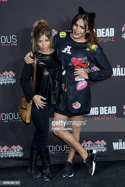 Amor Romeira attends Halloween party at Amusement Park on October 21 2015 in Madrid Spain