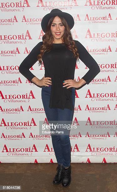 Amor Romeira attends Javi Cantero new album presentation at Alegoria bar on March 29 2016 in Madrid Spain
