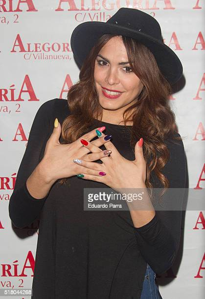 Amor Romeira attends Javi Cantero new album presentation at Alegoria bar on March 29 2016 in Madrid Spain