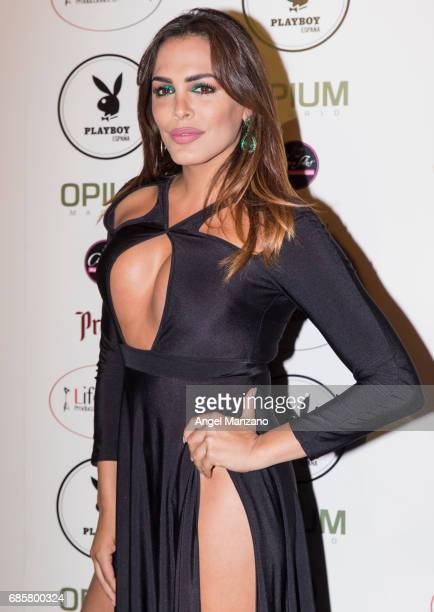 Amor Romeira attends Playboy Magazine launching at Opium Club on May 18 2017 in Madrid Spain