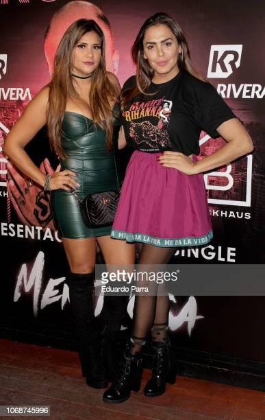 Amor Romeira attends the presentation of Kiko Rivera's new single 'Mentirosa' at Blackhaus disco on November 16 2018 in Madrid Spain