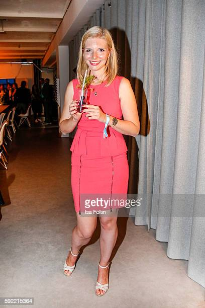 Amorelie founder LeaSophie Cramer attends the Amorelie Wonderland dinner party at their new headquarter on August 19 2016 in Berlin Germany