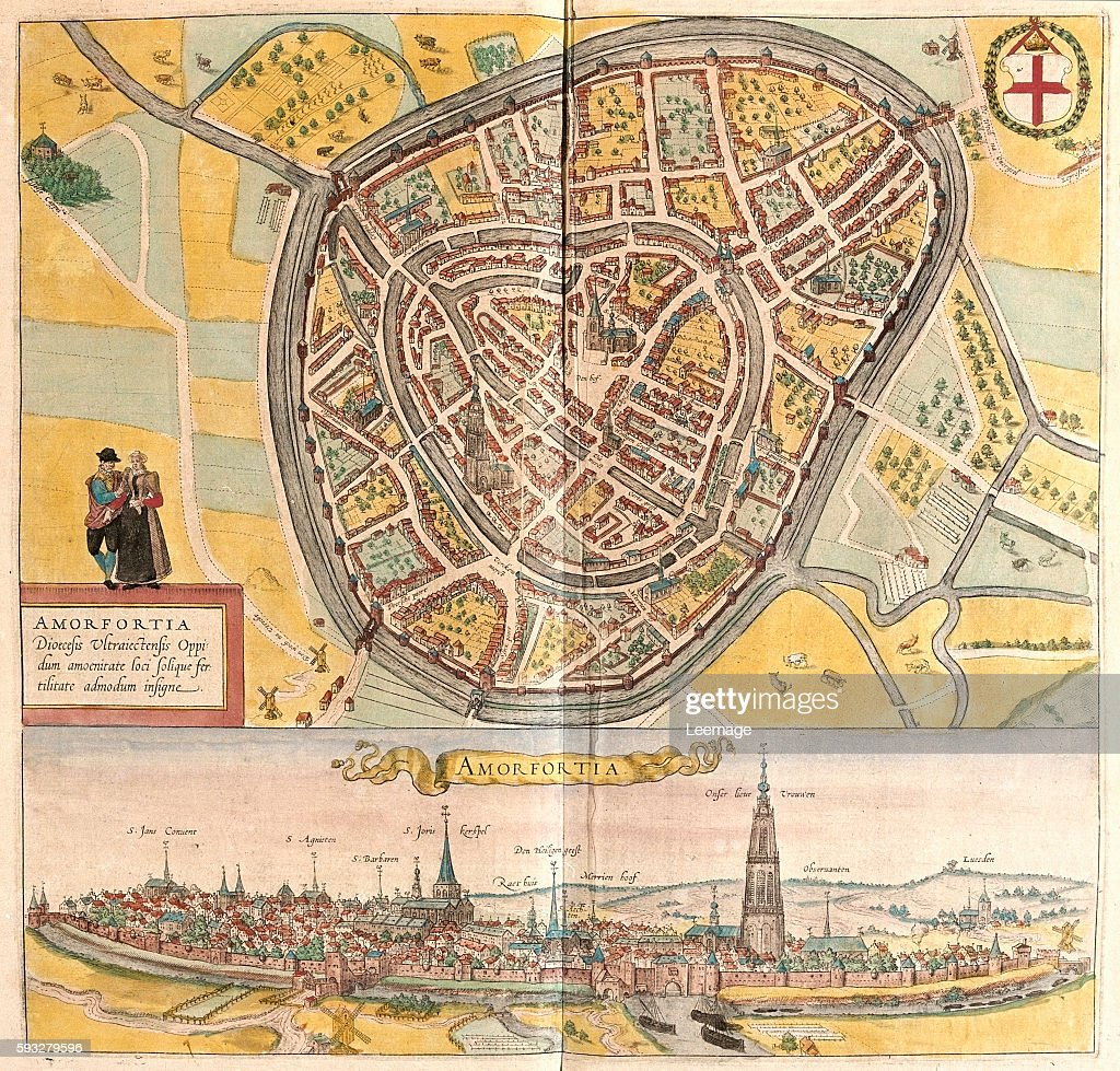 Map of Amersfoort from Civitates Orbis Terrarum Pictures Getty Images