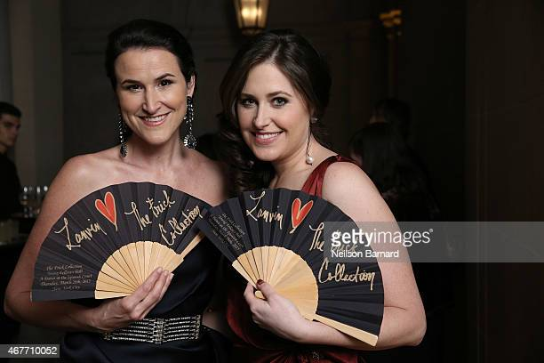 Amory McAndrew and Lydia Fenet Delaney attend the The Frick Collection 2015 Young Fellows Ball A Dance at the Spanish Court sponsored by LANVIN at...
