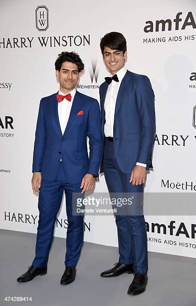 Amos Bocelli and Matteo Bocelli attend amfAR's 22nd Cinema Against AIDS Gala, Presented By Bold Films And Harry Winston at Hotel du Cap-Eden-Roc on...