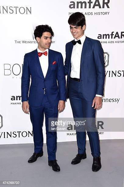 Amos Bocelli and Matteo Bocelli attend amfAR's 22nd Cinema Against AIDS Gala Presented By Bold Films And Harry Winston at Hotel du CapEdenRoc on May...