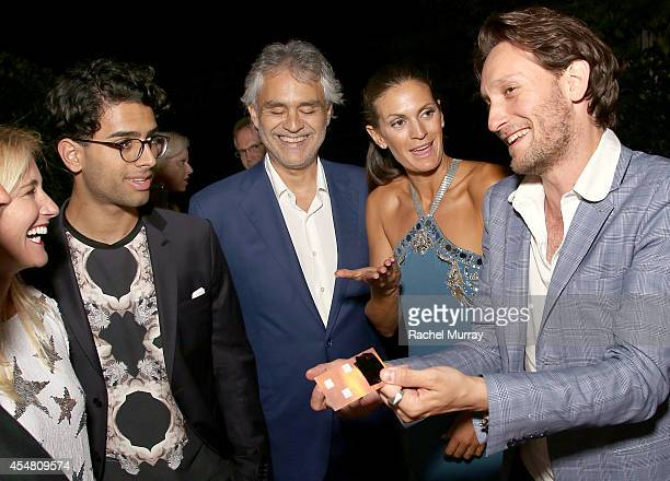 Amos Bocelli Andrea Bocelli and Veronica Berti watch the Mentalist Lior Suchard perform during an exclusive dinner at the Casa Cavalli estate...