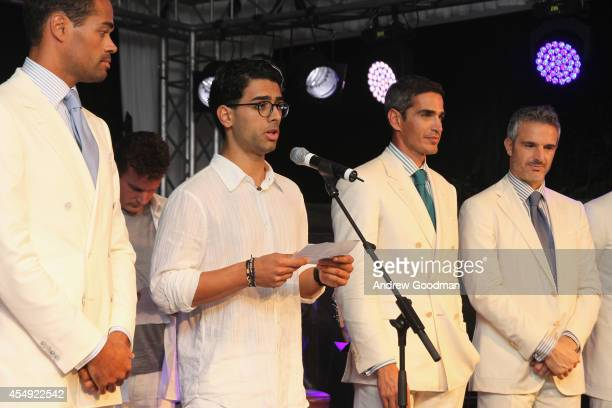 Amos Bocelli speaks at the White Party Dinner Hosted by Andrea and Veronica Bocelli Celebrating Celebrity Fight Night In Italy Benefitting The Andrea...
