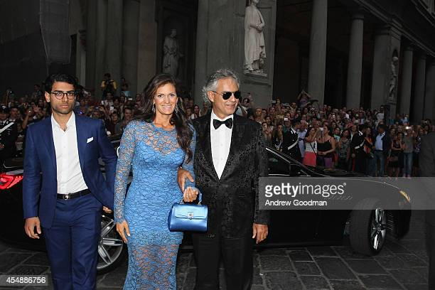 Amos Bocelli; Veronica Bocelli and Andrea Bocelli attend the Celebrity Fight Night In Italy Benefitting The Andrea Bocelli Foundation and The...