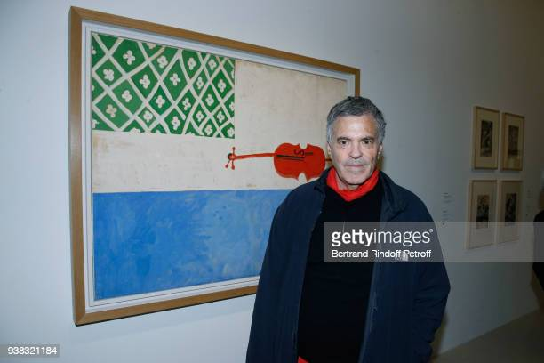Amos Gitai attends the 'Chagall Lissitzky Malevitch L'Avantgarde Russe a Vitebsk 19181922' Press Preview at Centre Pompidou on March 26 2018 in Paris...