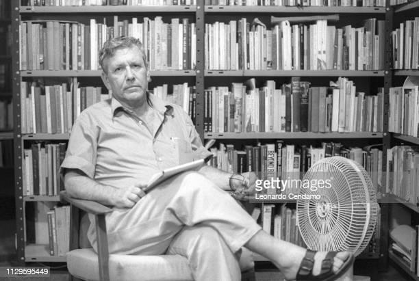 Amos Oz, Israeli writer, Como, Italy, .