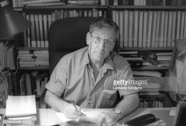 Amos Oz, Israeli writer, Milan, Italy, .