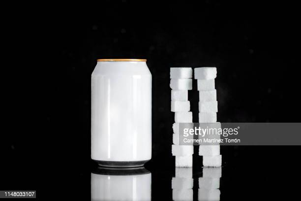 amount of sugar contained in a can of soda. - cholesterol test stock photos and pictures