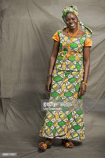 Amoussa Emma 42 years old from Congo poses during SAFEM Salon international de l'artisanat pour la femme trade fair on December 07 2013 in Niamey...