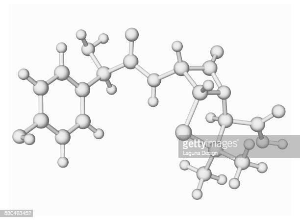 Amoxicillin antibiotic drug molecule