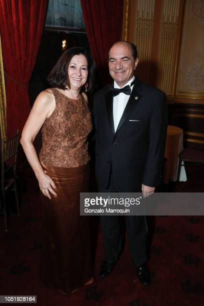 Amparo Codding and Ernesto Restrepo during the Hispanic Society Museum Library Gala 2018 at Metropolitan Club on October 11 2018 in New York City