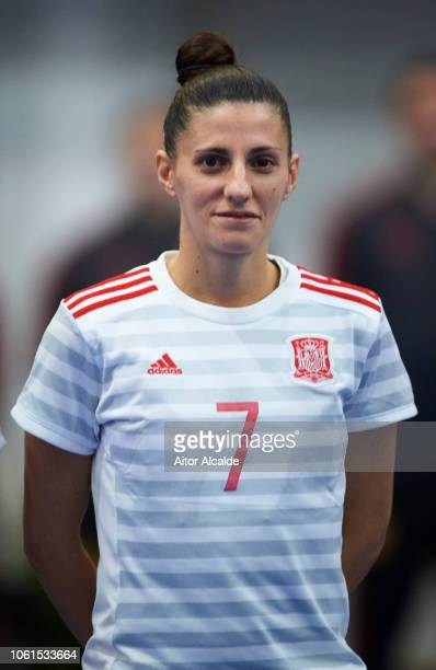 Amparo Jimenez Lopez of Spain looks on during a friendly futsal match between Spain and Russia on November 14 2018 in Almeria Spain