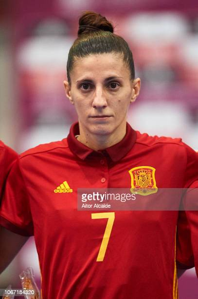 Amparo Jimenez Lopez of Spain looks on during a friendly futsal match between Spain and Russia on November 13 2018 in Almeria Spain