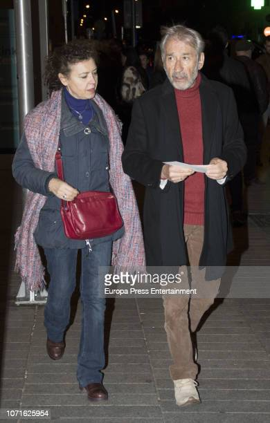 Amparo Pascual and Jose Sacristan are seen arrival at concert homage to Luis Eduardo Aute on December 10 2018 in Madrid Spain