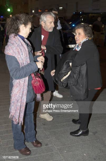 Amparo Pascual Jose Sacristan Cristina Almeida are seen arrival at concert homage to Luis Eduardo Aute on December 10 2018 in Madrid Spain