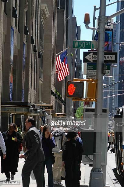 Ampel in 50 Street Manhattan New York USA Amerika Reise BB DIG PNr 741/2006