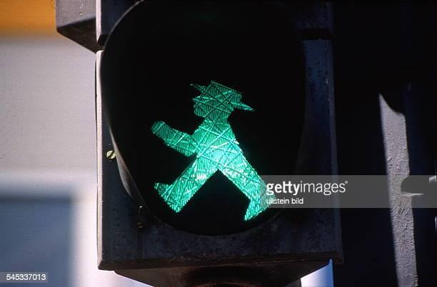 Ampel Piktogramm Ost `Ampelmännchen'Grünes Männchen gehen 1998