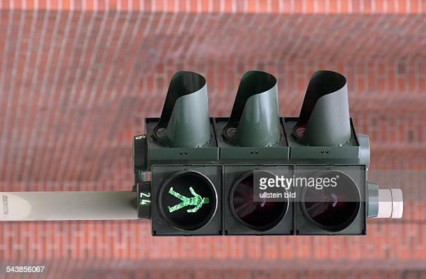 Ampelanlage Ampel mit Grünlicht Ampel Grün Lichtzeichenanlage Lichtsignalanlage