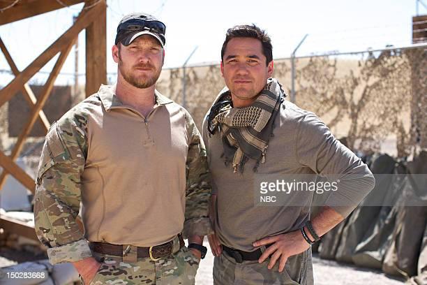STRIPES Amphibious Assault Episode 101 Pictured Operative Chris Kyle contestant Dean Cain