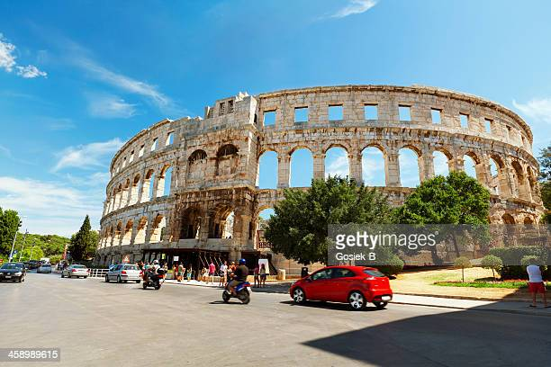 amphitheater arena pula,croatia - amphitheatre stock photos and pictures