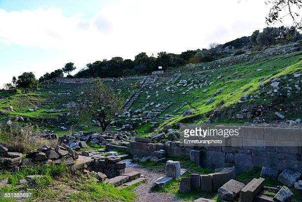amphitheater in erythrai - emreturanphoto stock-fotos und bilder